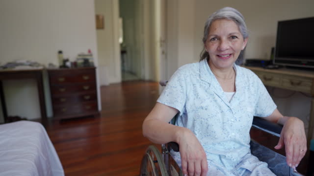 video of senior woman paraplegic - paraplegic stock videos & royalty-free footage