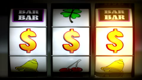 video of slot machine $$$ - gambling stock videos & royalty-free footage