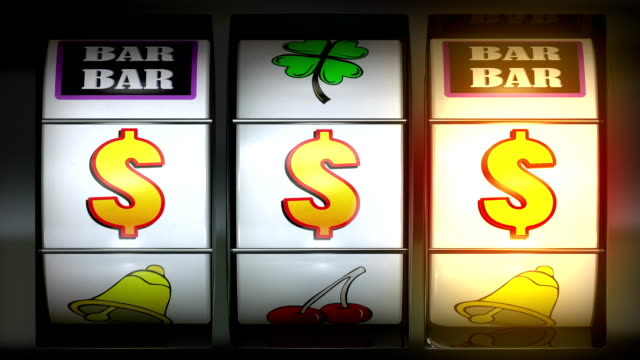 video of slot machine $$$ - luck stock videos & royalty-free footage