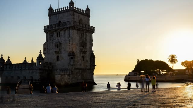 video of sunset on lisbon. - lisbon stock videos and b-roll footage