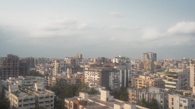 t/l video of the cityscape of dhaka, bangladesh - dhaka stock videos & royalty-free footage