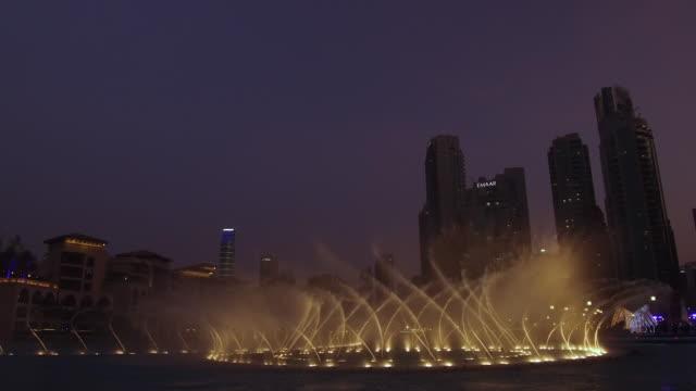 video of the dubai fountain in the dubai mall, evening - fountain stock videos & royalty-free footage