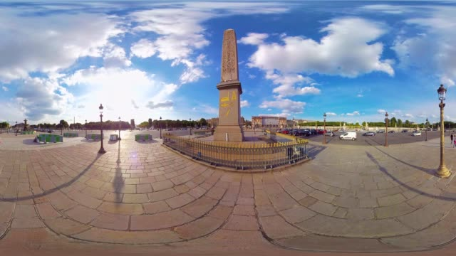 A 360VR video of the Egyptian Luxor Obelisk in Paris France