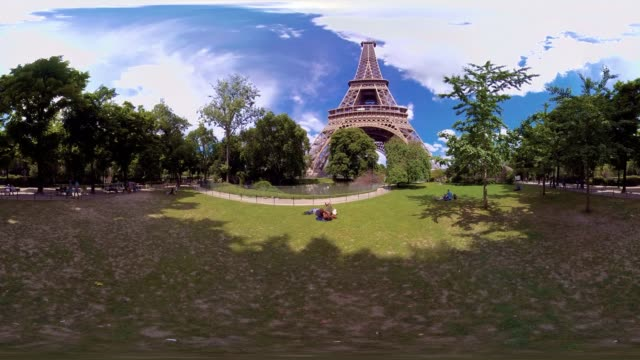 A 360VR video of the Eiffel Tower Paris