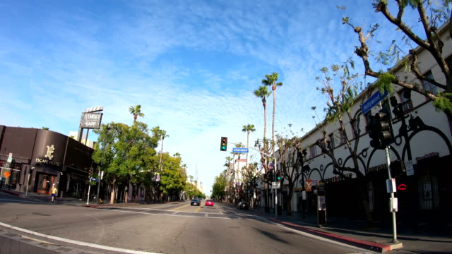 4k video of the empty hollywood streets - walk of fame stock videos & royalty-free footage