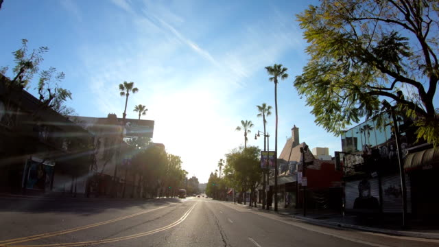 stockvideo's en b-roll-footage met 4k video van de lege hollywood straten - hollywood california