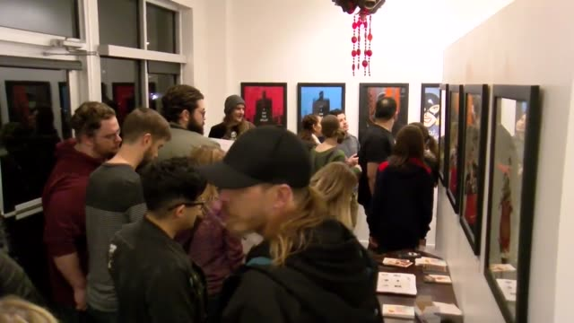 Video of the opening of the Phantom City Creative's BATMAN THE ANIMATED SERIES Art Show Broll of the opening and of the gallery Interviews