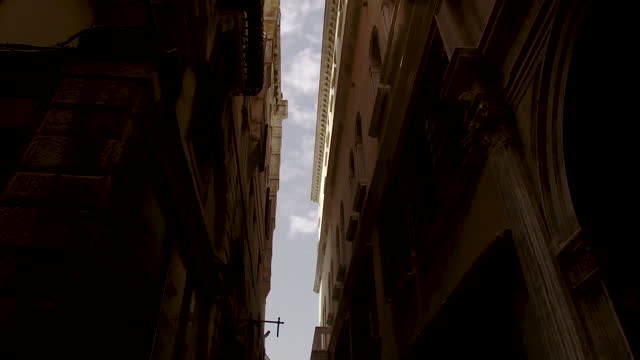 video of the streets in venice, italy, with buildings on both sides on the frame on a sunny day - iron bars for windows stock videos & royalty-free footage