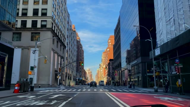 video of the streets of new york city almost empty in corona time - downtown stock videos & royalty-free footage