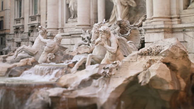 video of the trevi fountain in rome - conditions stock videos and b-roll footage