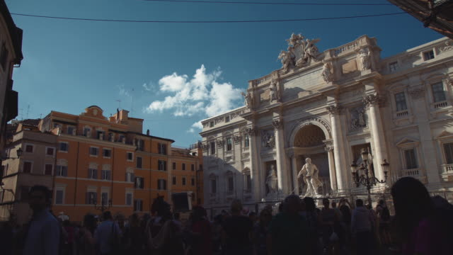4k video of the trevi fountain in rome - baroque stock videos & royalty-free footage