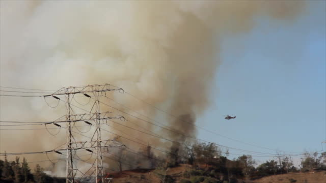 4K video of the wildfire in California