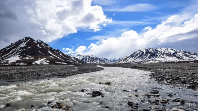 video of toklat river and mountains - denali national park stock videos & royalty-free footage