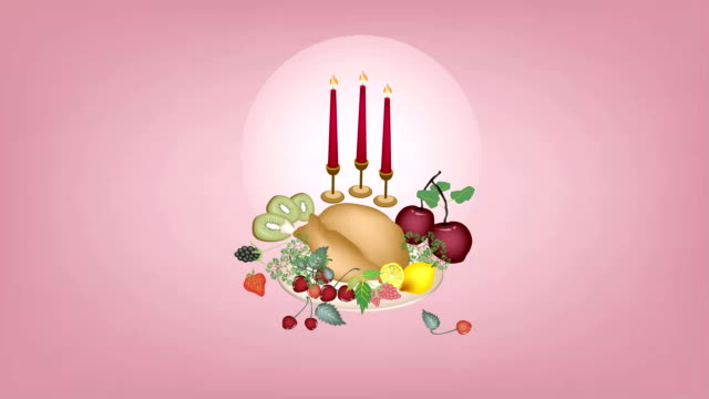 video of turkey at a traditional christmas dinner - roast turkey stock videos & royalty-free footage
