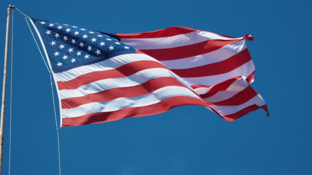 Video of USA flag in 4K