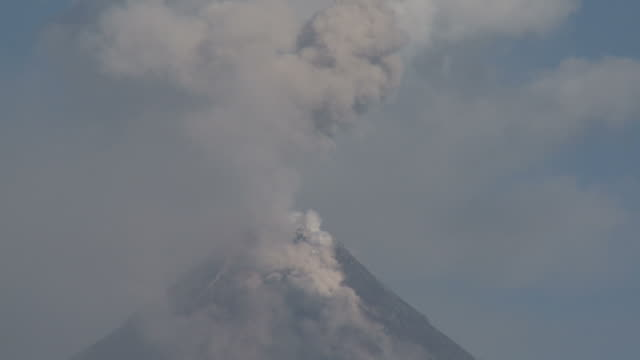 t/l video of volcanic eruption, philippines, dec 2009 - volcano stock videos & royalty-free footage