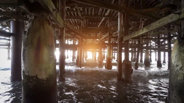 Video of walking under pier in 4k