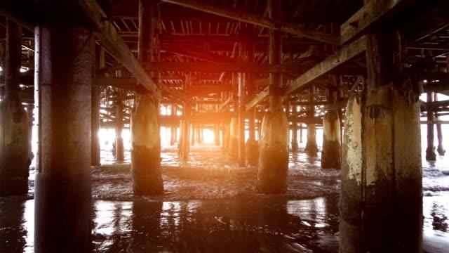 Video of walking under pier in real slow motion