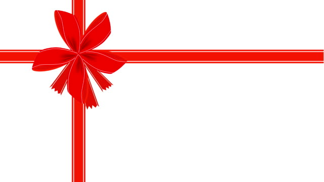 video of white gift card with red ribbon - tied bow stock videos & royalty-free footage