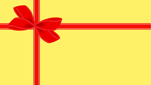 video of yellow gift card with red ribbon - tied bow stock videos & royalty-free footage