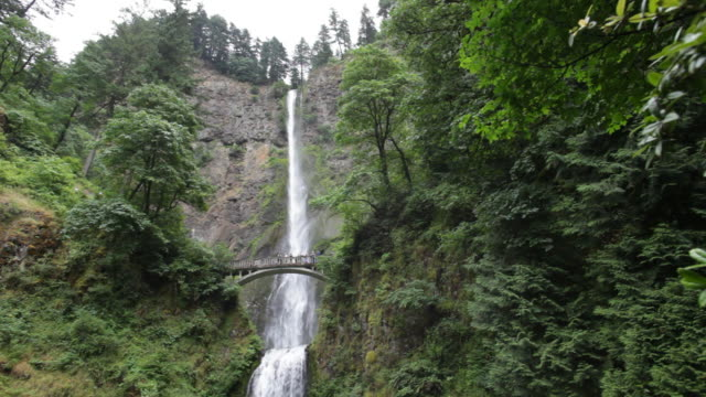 vídeos y material grabado en eventos de stock de vídeo hd y ofrece a los visitantes de oregon y cascadas de multnomah falls - cascadas de multnomah