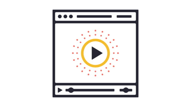 Video Player Line Icon Animation