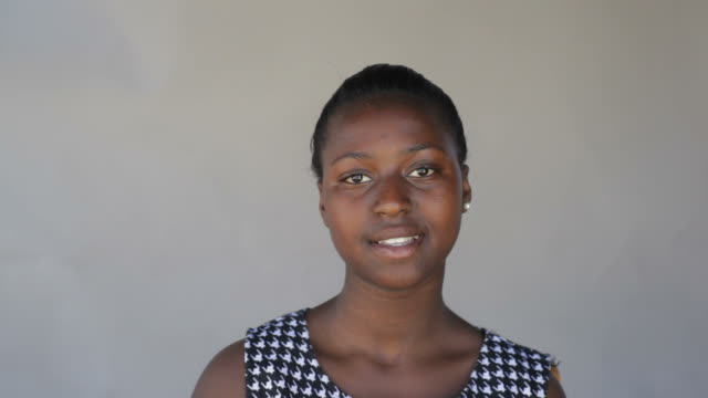 Video portrait of a beautiful african young woman
