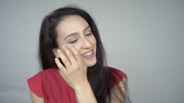 A video Portrait of a young woman.