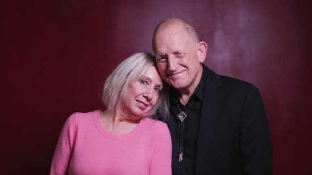 video portrait of affectionate older couple - video portrait stock videos & royalty-free footage