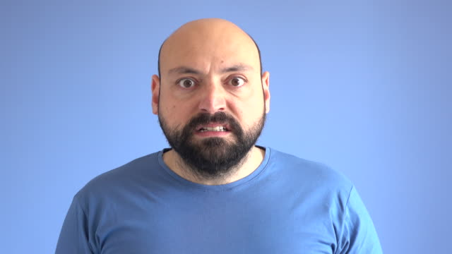 UHD Video Portrait Of Angry Adult Man