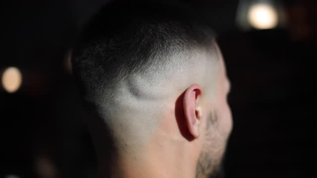 video portrait of man just after having a haircut - video portrait stock videos & royalty-free footage