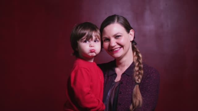 video portrait of mother and son making faces and cuddling - video portrait stock videos & royalty-free footage