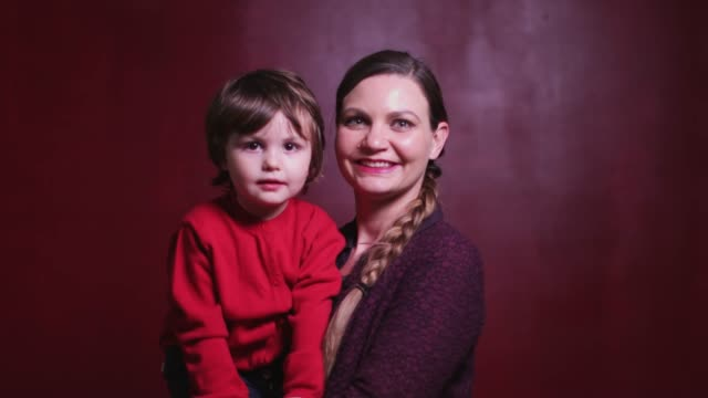 video portrait of mother and son - video portrait stock videos & royalty-free footage