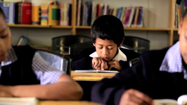 video portrait of school boy - school uniform stock videos & royalty-free footage