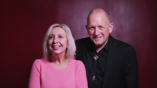 video portrait of smiling man and woman in their 60s - video portrait stock videos & royalty-free footage