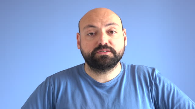 UHD Video Portrait Of Talking Adult Man