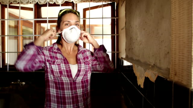 Video Portrait of Woman Renovator