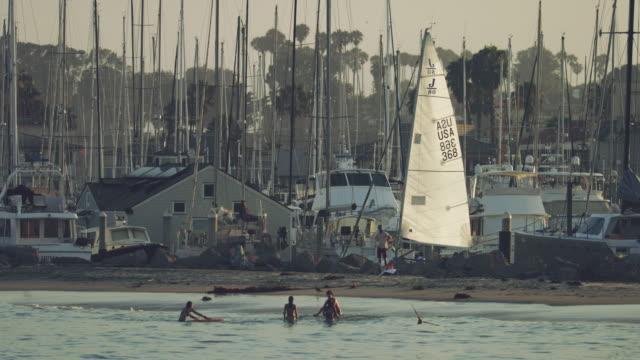 video postcards from santa barbara marina, ca - vista marina stock videos & royalty-free footage