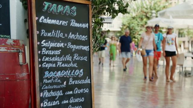 video postcards of the city of valencia, spain - tapas stock videos & royalty-free footage