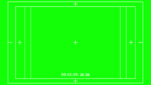 vídeos de stock e filmes b-roll de video record frame green screen, camera viewfinder digital overlay display (starts from 01:05:03 and end with 01:05:32) - visor digital
