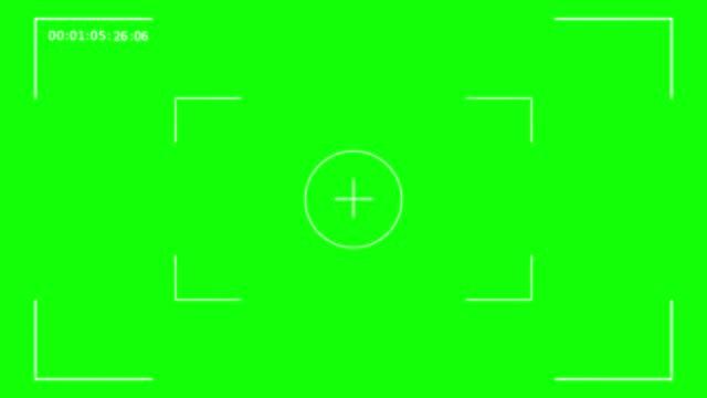 ビデオ録画フレームの緑色画面、カメラファインダーデジタルオーバーレイ表示(01:05:03から開始し、01:05:32で終了) - デジタル一眼レフカメラ点の映像素材/bロール