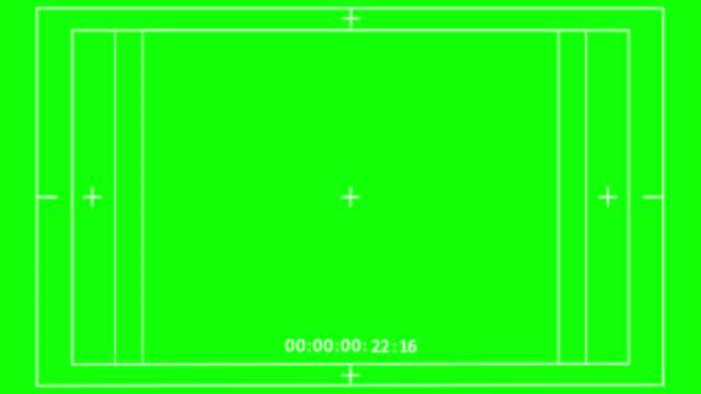 vidéos et rushes de écran vert d'image d'enregistrement vidéo avec timecode, affichage numérique de superposition de viseur d'appareil-photo (commence à partir de 00:00:00 et fin avec 00:00:30) - caméscope
