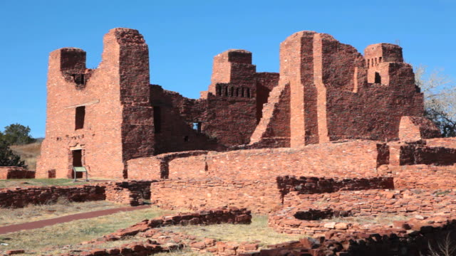 hd video ruins salinas pueblo missions national monument - calton hill national monument stock videos and b-roll footage
