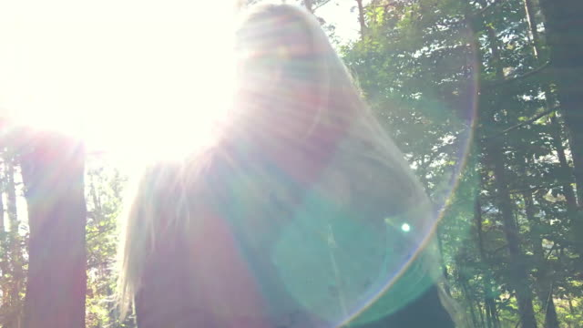 video selfie at forest - spinning point of view stock videos & royalty-free footage