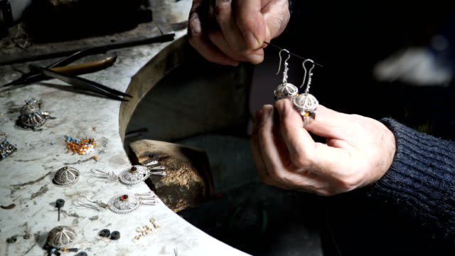 video shooting of hands of the jeweler from a close distance. - ornate stock videos & royalty-free footage