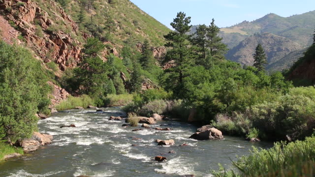 HD video South Platte River and Colorado mountains