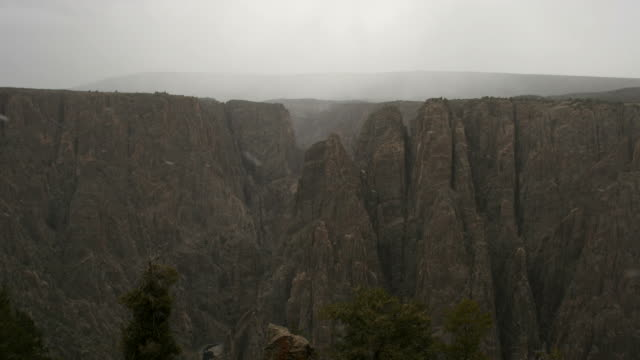 hd video storm time lapse black canyon of gunnison np - gunnison stock videos and b-roll footage