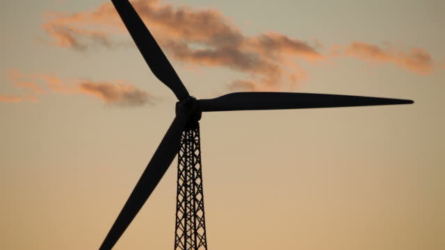 HD-Video-Sunrise erneuerbaren wind turbine Palm Springs, Kalifornien