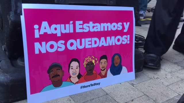video taken at the plaza de cultura y artes at 501 n. main st. in los angles, california. footage includes b-roll and sot, with two interviews. - undocumented immigrant stock videos & royalty-free footage