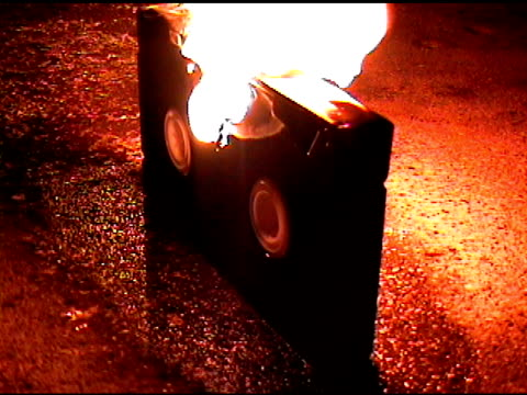 video tape on fire vhs - vcr stock videos and b-roll footage